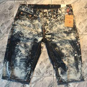 NWT True Religion Men's Jeans Cutoff Shorts 36